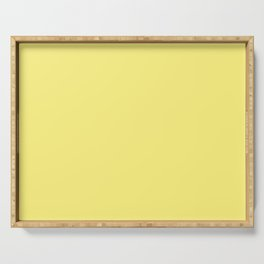 Solid Pale Corn Yellow Color Serving Tray