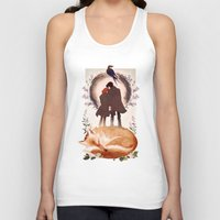 mulder Tank Tops featuring Fable of Mulder and Scully by tumblebuggie