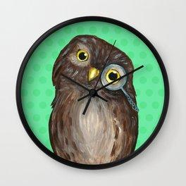 Curios Owl from Animal Society Wall Clock