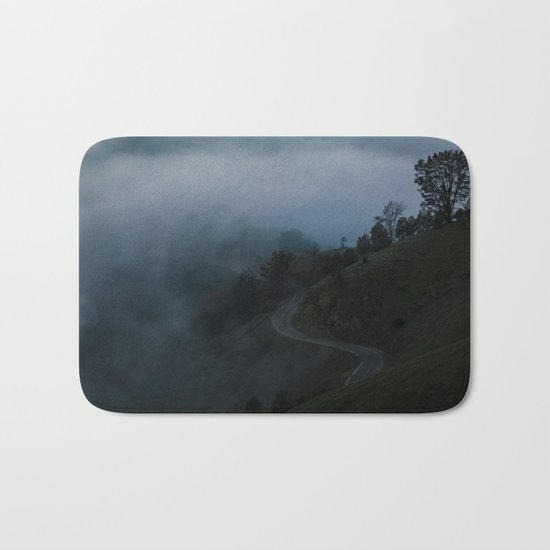 Dark Valley #fog Bath Mat