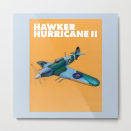 RAF Hawker Hurricane by Dennis Weber of ShreddyStudio Metal Print