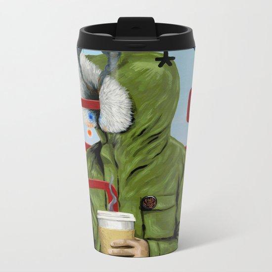 Caffeine Boost Metal Travel Mug