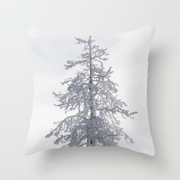 Yellowstone National Park - Ice Covered Tree Throw Pillow