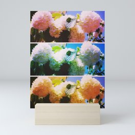 Bright Snowball Branch Collage (III) Mini Art Print