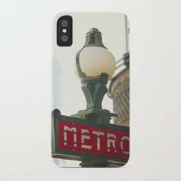 Metro in Paris iPhone Case