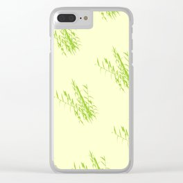 Bush Trees Pattern Clear iPhone Case