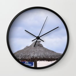palm tree on the beach and in the sky, travel for leisure, Mallorca and enjoy Wall Clock