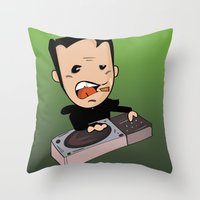 dj Throw Pillows featuring DJ by Grime Lab