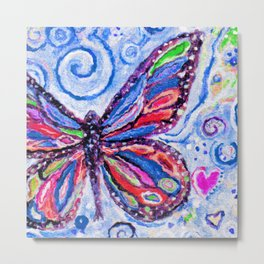 Butterfly Painting Metal Print