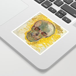 Vincent Van Gogh Skull Sticker