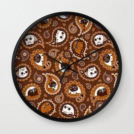 Cat Paisley Hot Autumn Chocolate Wall Clock