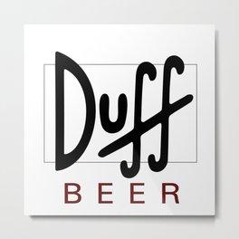 Duff Beer Logo Black Metal Print