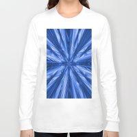 waterfall Long Sleeve T-shirts featuring Waterfall by Enri-Art