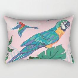 Treetop Parrots Rectangular Pillow