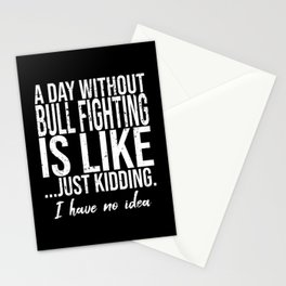 Bull Fighting funny sports gift Stationery Cards