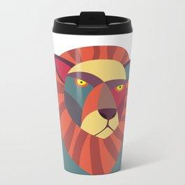 Hipster Lion Metal Travel Mug