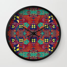 Abstract Geometric Illusion Quilt Wall Clock