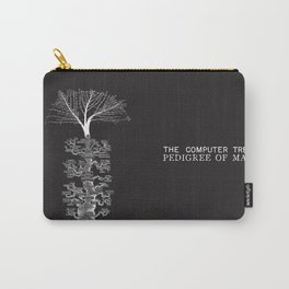 The Computer Tree Pedigree of Man Carry-All Pouch