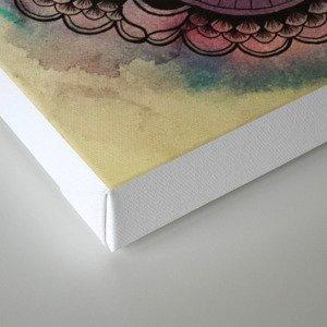 Graphic Flower Mandala Canvas Print