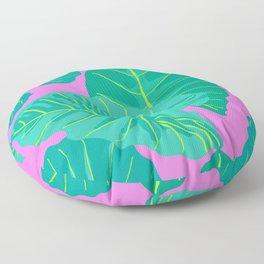 Giant Elephant Ear Leaves in Preppy Pink Floor Pillow