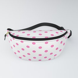 Large Light Hot Pink Polka Dots on White Fanny Pack