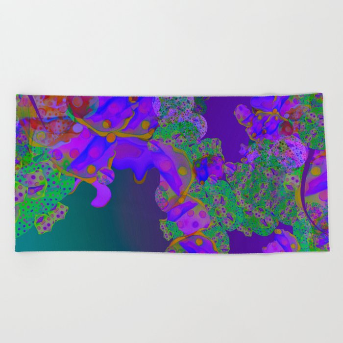 """""""Be yourself (Pop Fantasy Colorful Pattern 02)"""" Beach Towel"""