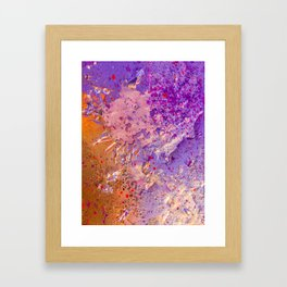 abstract paint gradient 0076 Framed Art Print