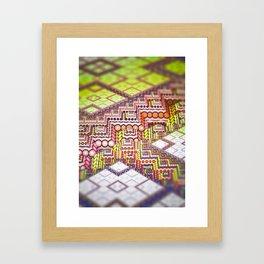 infrastructure II. Abstract Design Framed Art Print