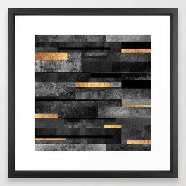 Urban Black & Gold Framed Art Print