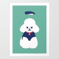 poodle Art Prints featuring poodle by caramellong