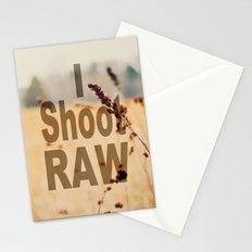 I SHOOT RAW Stationery Cards