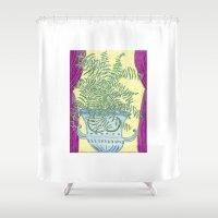 fern Shower Curtains featuring Fern by Shelley Savor