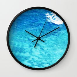 Exotic French Polynesia South Pacific Ocean Waters Wall Clock