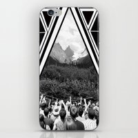 concert iPhone & iPod Skins featuring Mountain Concert by Claire Lester