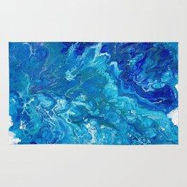 Dark Ocean Blue Rug