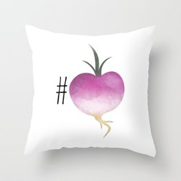 #Turnip Throw Pillow