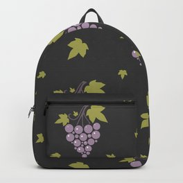 Seamless pattern with bunches of ripe grapes  Backpack
