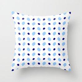 spot and blot 14 blue Throw Pillow