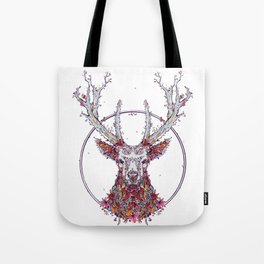 Flowers and Stag Tote Bag