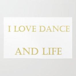 I love dance . golden Rug