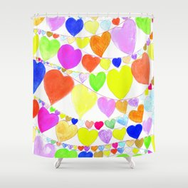 garlands of hearts  Shower Curtain