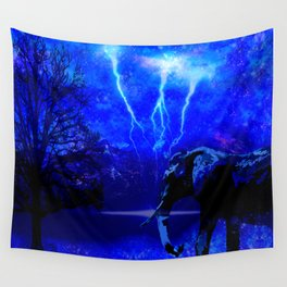 ELEPHANT LIGHTNING AND AFRICAN NIGHTS Wall Tapestry