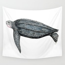 Leatherback turtle (Dermochelys coriacea) Wall Tapestry