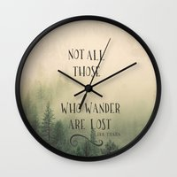 tolkien Wall Clocks featuring Not all those who wander are lost - JRR Tolkien  by JD84