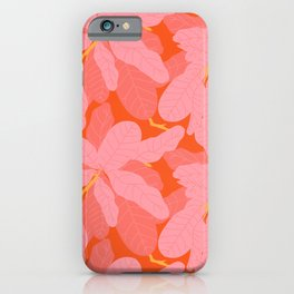 Tropicana Banana Leaves in Coral Spice iPhone Case