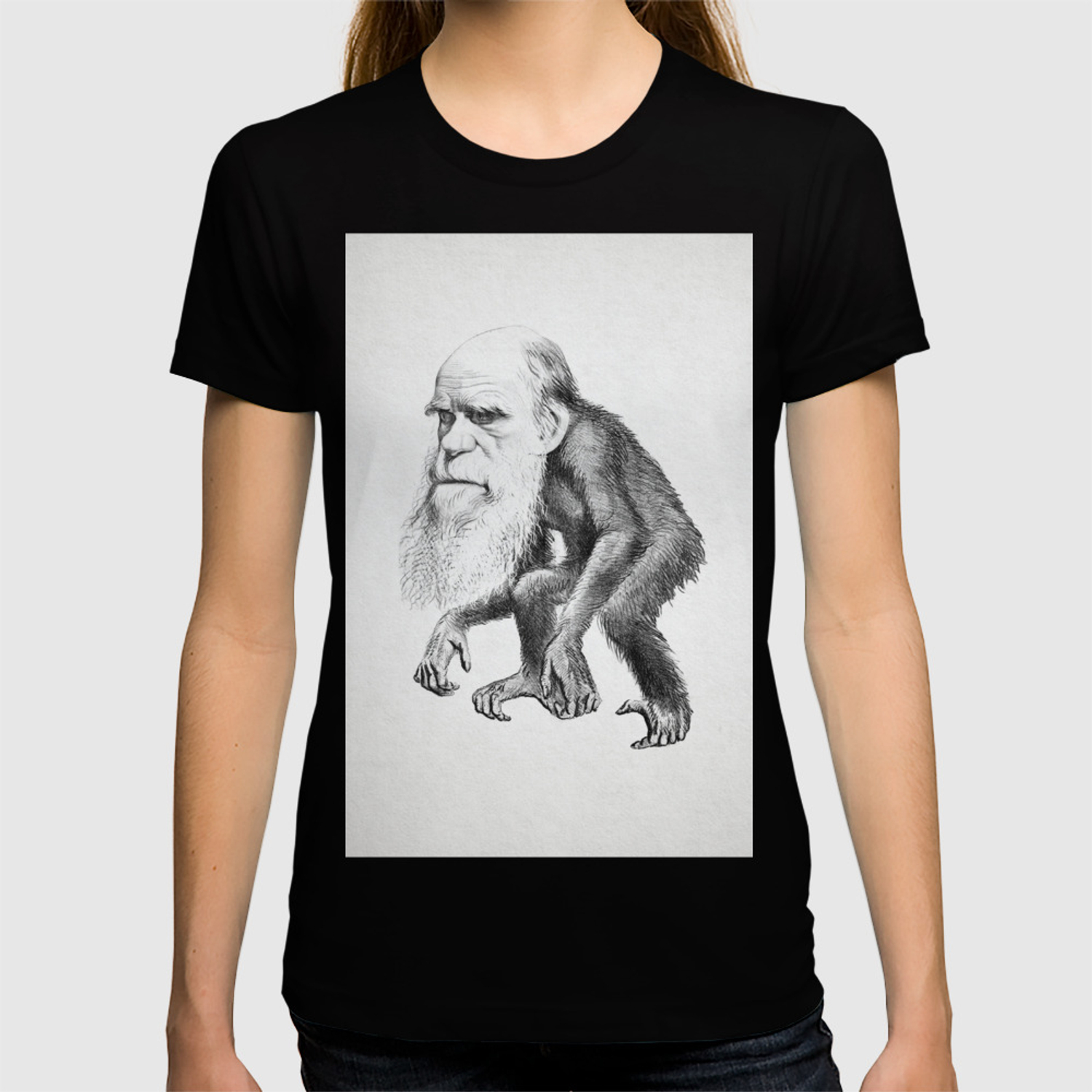 1b752a45d Charles Darwin as an Ape, caricature 1871 T-shirt by classicalart | Society6