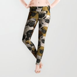 Social Pugs Leggings