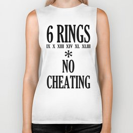 6 rings no cheating Biker Tank