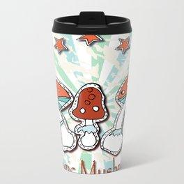 Cute cartoon mushrooms. Metal Travel Mug