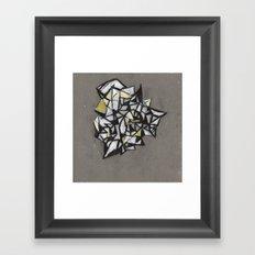 Yellow Structure Framed Art Print